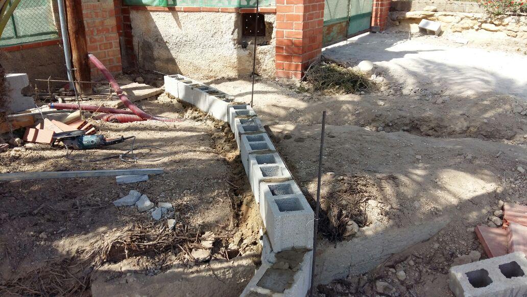 Construcción de jardineras