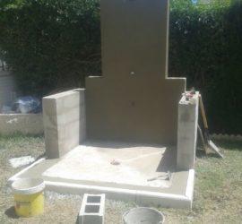 Construcción ducha de piscina